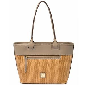 NWT Dooney and Bourke Beacon Woven Leather Tote